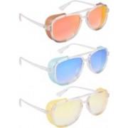 NuVew Wayfarer, Shield Sunglasses(Red, Golden, Blue, Yellow, Violet)