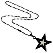 Men Style Star Black And White Alloy Star Necklace Pendent For Men And Boys