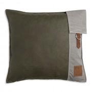 Knit Factory Luc kussen 50x50 groen