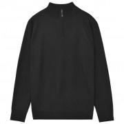vidaXL cipzáros férfi pulóver fekete M
