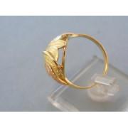 Zlatý dámsky prsteň vzorovaný žlté červené zlato DP59362V