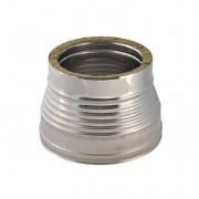 Aumento Doppia Parete Acciaio Inox Diametro Interno 130 F -150 M Esterno 180 M-200 F