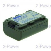 2-Power Videokamera Batteri Sony 7.2v 700mAh (NP-FP50)