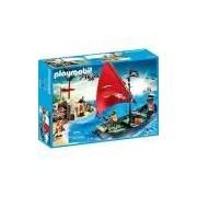 Playmobil Navio Pirata com Soldados - Sunny Brinquedos