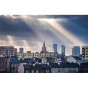 Warszawa Objawienie Panorama Miasta - plakat premium