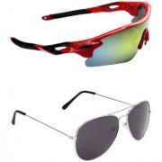 Zyaden Combo of 2 Sunglasses Sport and Aviator Sunglasses- COMBO 2700