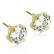 Blomdahl Titanium Tiffany CZ White/Gold - 6