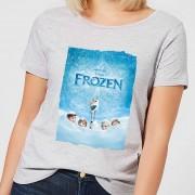 Disney Frozen Snow Poster Dames T-shirt - Grijs - 3XL - Grijs