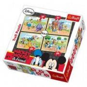 Puzzle Mickey Mouse 4 in 1 - La ferma