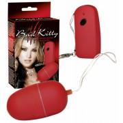 Bad Kitty - vibračné vajíčko s rádiovým ovládaním - 10 stupňové