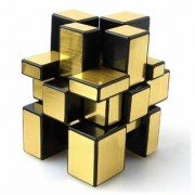 6th Dimensions Mirror Cube 6 X 6 X 6 Rubik Cube High Speed Brainstorming Puzzle Game Toy(Golden)
