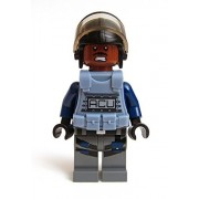 Lego Jurassic World ACU Minifigure 75919 Dark Reddish Brown Head Exclusive