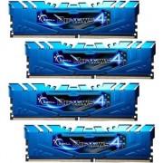 Memorie RAM G.Skill DDR4 16GB (4GBx4) 2133MHz CL15 Ripjaws 4 Blue Quad (F4-2133C15Q-16GRB)
