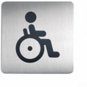 DURABLE · Hunke und Jochheim GmbH & Co. KG DURABLE Picto quadratisch WC Behindert Schild, Hinweisschild aus hochwertigem gebürsteten Edelstahl, 1 Stück
