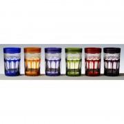 6 verres couleur à thé taille Mireille
