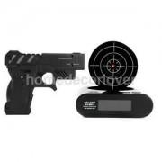 Alcoa Prime Gun Shoot Alarm Clock Target Wake-up Shooting Game Toy Novelty Gadget Fun