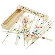 Wekity Wooden Pick Up Sticks - Mikado Spiel, Classic Parent-Child Multiplayer Intelligence Game