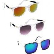 Spexra Wayfarer, Retro Square Sunglasses(Yellow, Blue)