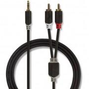 Nedis CABP22200AT20 3,5 mm Jack - 2 × RCA dugó sztereó audiokábel - 2 m