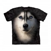 The Mountain Honden T-shirt Siberische Husky hond voor volwassenen