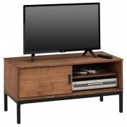IDIMEX TV Lowboard SELMA mit 1 Schiebetür, braun gebeizt