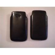 Черен калъф за HTC Desire Z от естествена кожа