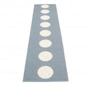 pappelina Vera Outdoor-Teppich - sturmblau / vanille 70 x 300cm