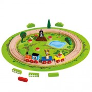 Jucarie Bino Trenulet cu sina circulara Little Mole