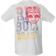 Camiseta Red Bull Brasil Futebol Ondas White - M