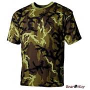 MFH - Max Fuchs Koszulka militarna w kamuflażu CZ M95 TARN, rozmiar S, bawełna 100%, 160 g/m2