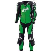 Held Full Speed Traje de cuero de motocicleta de una sola pieza Negro Verde 52