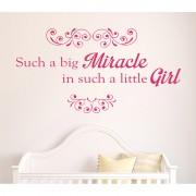 MagisWall zidna naljepnica Big miracle roza
