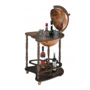 Luxury Bar Globe Vintage Dark Brown by Zoffoli made in Italy