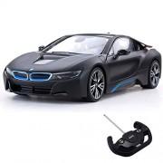 Rastar BMW Limited Edition i8 R/C Car 1/14 Scale Black | Radio Remote Control Open Doors Toy Vehicle
