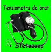 TENSIOMETRU manual de brat aneroid folosit in Spitale + STETOSCOP