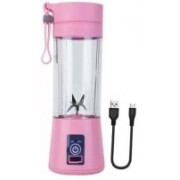 pinaaki NEW 2O20 Powerful GENUINE Portable Electric Fruit Juicer Maker/Blender USB Rechargeable for the Kitchen, Gym, Yoga Class, Hiking, Camping, Office, Travelling, Outdoor Sports 300 Juicer Mixer Grinder 300 Juicer Mixer Grinder(Pink, 1 Jar)