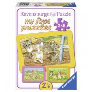 Primul meu puzzle animalute 3x6 piese