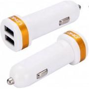 LDNIO C21 Wit 2 USB Port Autolader 2.1A met 1 Meter Micro USB Kabel geschikt voor o.a CAT S31 S41