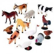 JINKRYMEN FARM Animals Figures Set For Kids/Young Ones Pack Of 20 Animals (Big Size) (Multi Colour, Animals May Vary Pack To Pack)