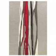 Covor tesut manual design Red Trace, Spirit 70x140cm 3088-65 AE
