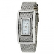 Evelyn Square Analogue White Dial Stainless Steel Girls Watches-eve-501
