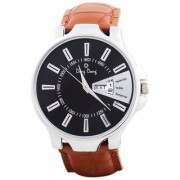 Ding Dong Analogue Day Date Black Dial Men's Watch-Max Black-01