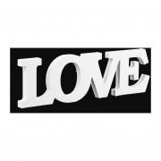 EY Imitación de madera parte de cartas de amor en la decoración del hogar Tabla ornamento de boda-Blanco