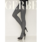 Gerbe - Warm patterned winter tights Armure