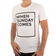 Duo Central - When Sunday Comes T-shirt - Wit