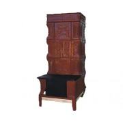 Sobă mobilă din teracotă tip A, pe lemne, cu plită, 7 kW, 125x76x46 cm