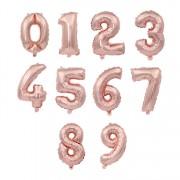 Baloane folie cifra roz gold