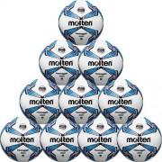 molten Fußballpaket (10 Stück) F5V3335 (350g) - weiß/blau/silber |