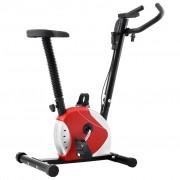 vidaXL Bicicleta estática com resistência por cinta vermelho