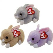 Ty 2016 Beanie Babies Easter Bunny set with Nibbler Bunnie and Lilac